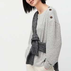 J Crew Small Button Shoulder Sweater